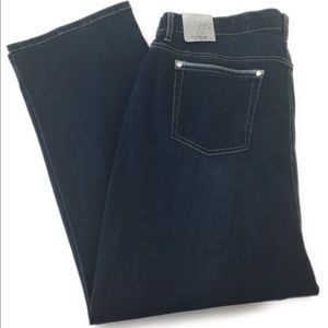 Catherine's Elastic Waistband Ankle Jeans 22WP NEW